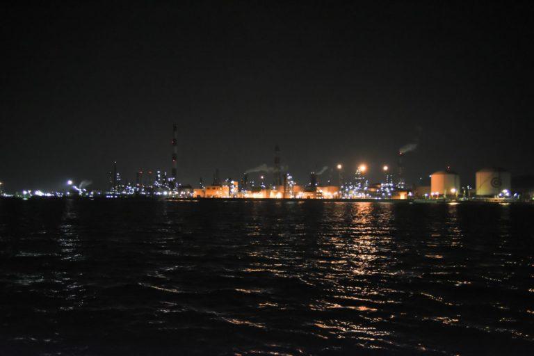水島コンビナート 夜景 撮影