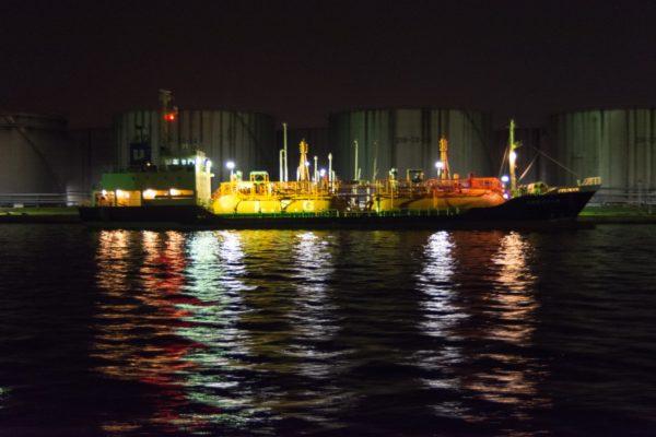 水島コンビナート 夜景 画像